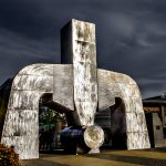 Dropforge sculpture Lime Square